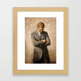 Official Portrait of President John F. Kennedy by Aaron Shikler Framed Art Print