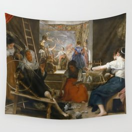 "Diego Velázquez ""Las Hilanderas (""The Spinners"")"" Wall Tapestry"