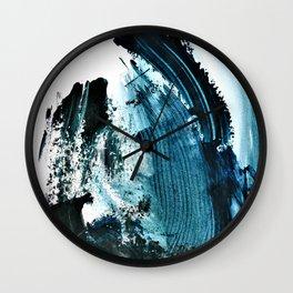 """Dark Stormy Night"". Phthalo Green Series, No 1. Wall Clock"