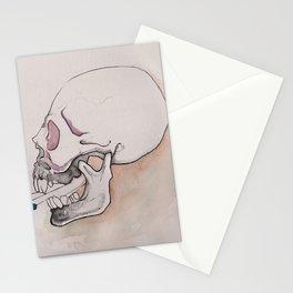 Skull talk, skeleton art, NYC artist Stationery Cards
