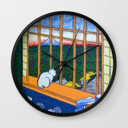 Asakusa Tanbo Tori No Machi Mode (after Hiroshige) Wall Clock