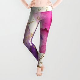Pink and Purple Leggings