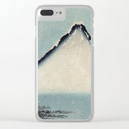 Hokusai, the blue fuji- hokusai,manga,japan,fuji, blue fuji,Shinto Clear iPhone Case