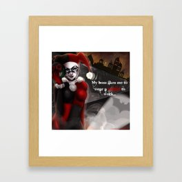 Harley Quinn  Framed Art Print