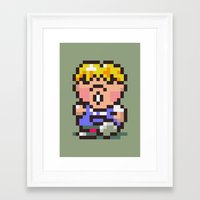 earthbound Framed Art Prints featuring Pokey Minch - Earthbound/Mother 2 by Studio Momo╰༼ ಠ益ಠ ༽