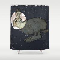 interstellar Shower Curtains featuring Interstellar by Shany Atzmon