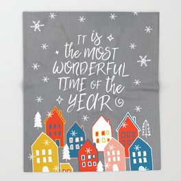 wondeful time of the year Throw Blanket