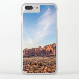 Natural Monuments Panorama in Arches National Park Clear iPhone Case