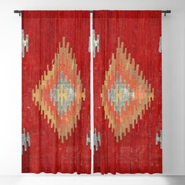 Çal  Antique Turkish Kilim Print Blackout Curtain