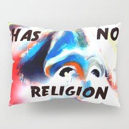 Gandhi Spiritual Quotation God Has No Religion Pillow Sham