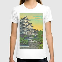 Kawase Hasui Vintage Japanese Woodblock Print Himeji Castle T-shirt