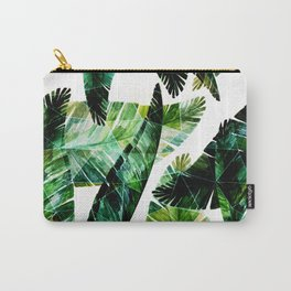 Green leaves of a banana. 2 Carry-All Pouch