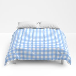 Sky Blue Gingham Comforters