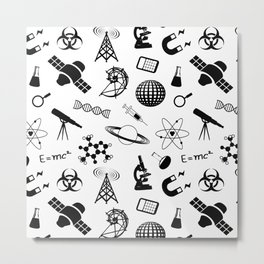 Symbols of Science Metal Print