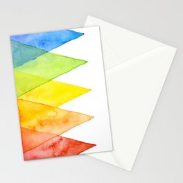 Geometric Watercolor Shapes Triangles Pattern Stationery Cards