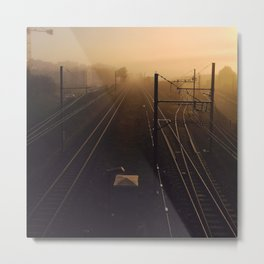 Misty Railroad Metal Print