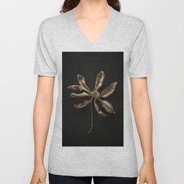 Dried Clematis Flower Unisex V-Neck
