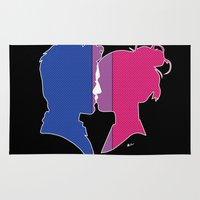 bisexual Area & Throw Rugs featuring Bisexual Love by Winter Graphics