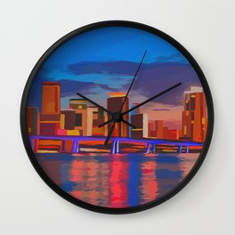 Miami Evening Wall Clock