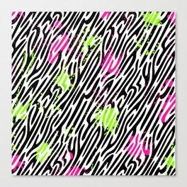 Wild Zebra Print Canvas Print