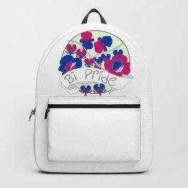 Bi Pride Flowers Backpack