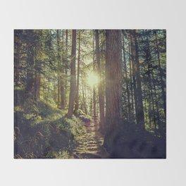 Hidden trail Throw Blanket