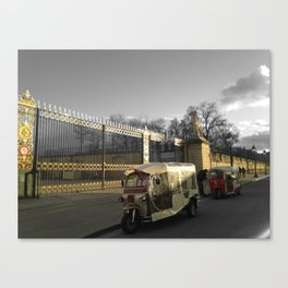 Paris black and white with color GOLD Canvas Print