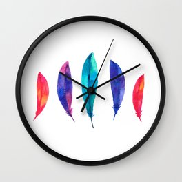 Feather Pizzazz Wall Clock