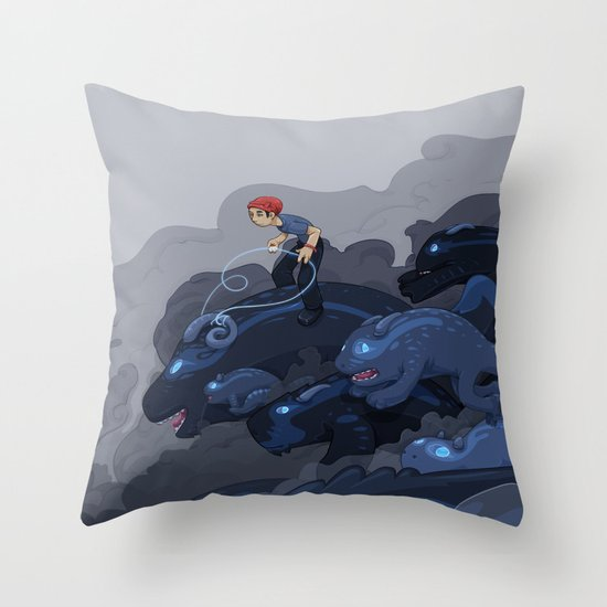 Rainy Day Activities Throw Pillow