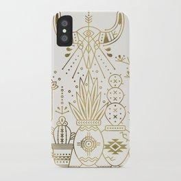 Santa Fe Garden – Gold Ink iPhone Case