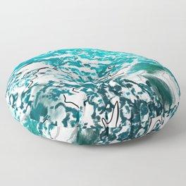 Cavalry in the blue seas Floor Pillow