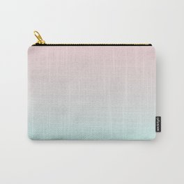 Pastel Ombre Millennial Pink Mint Gradient Carry-All Pouch