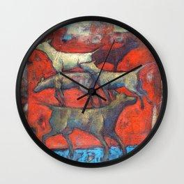Street dogs. Wall Clock