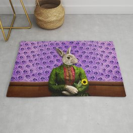 Miss Bunny Lapin in Repose Rug