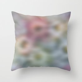Blurred Floral Throw Pillow