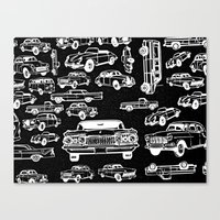 cars Canvas Prints featuring Cars by liberthine01