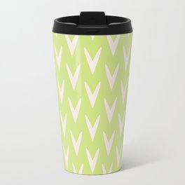 Pastel Green Pattern Travel Mug