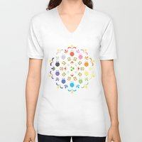 yoshi V-neck T-shirts featuring Yoshi Prism by Ashley Hay