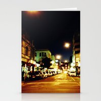 cuba Stationery Cards featuring Cuba Street by Curious Yellow