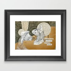 Electromagnetic Questions Framed Art Print