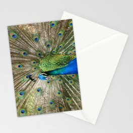 Peacock Indian Blue Stationery Cards