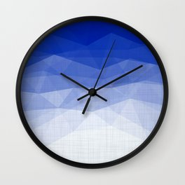 Imperial Lapis Lazuli - Triangles Minimalism Geometry Wall Clock