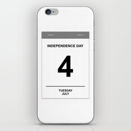 4th July Tuesday iPhone Skin