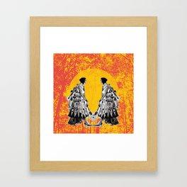 Single girl Framed Art Print