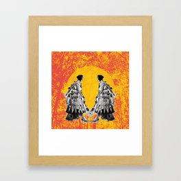 Single girl Framed Art Print
