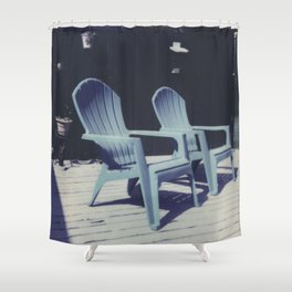let's chill Shower Curtain