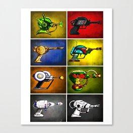 "Str Wrs Inspired Ray Gun Combo Illustration 11 x 14"" Art-Print Canvas Print"