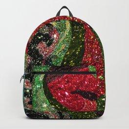 Retro Glitter Sky - Red Green Palatte Backpack