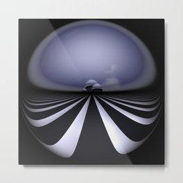circular images on black -26- Metal Print