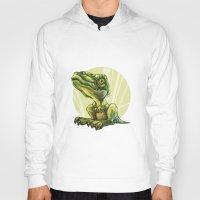 dinosaur Hoodies featuring Dinosaur by SansArt